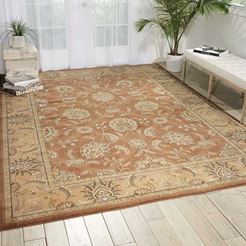 Nourison Persian Empire Mocha Rectangle Area Rug, 12-Feet by 15-Feet 12 x 15