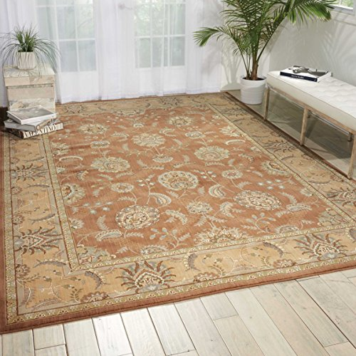 - Nourison Persian Empire (PE22) Mocha Rectangle Area Rug, 9-Feet 6-Inches by 13-Feet  (9'6