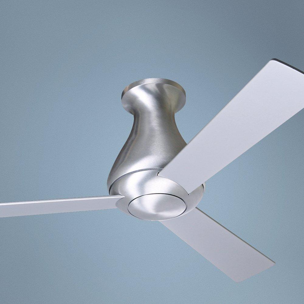 42 Modern Fan Altus Aluminum Finish Flush Mount Ceiling Fan