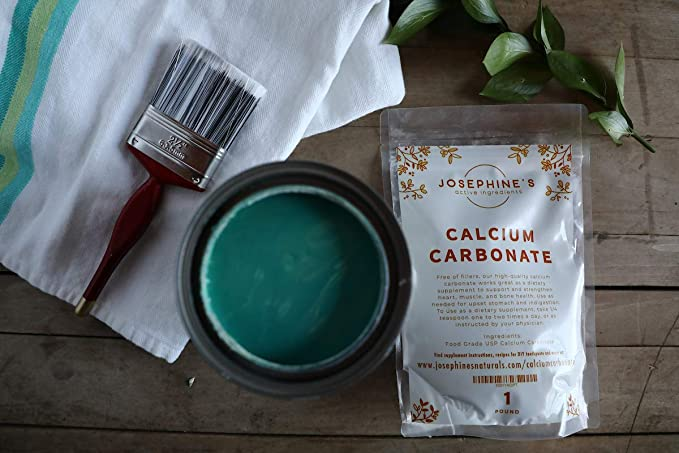 Amazon.com: Food Grade Calcium Carbonate Powder Great for Chalk Paint, Dietary Supplement, Pure Calcium Carbonate, Dissolves Easily, Safe for Pets: Arts, ...