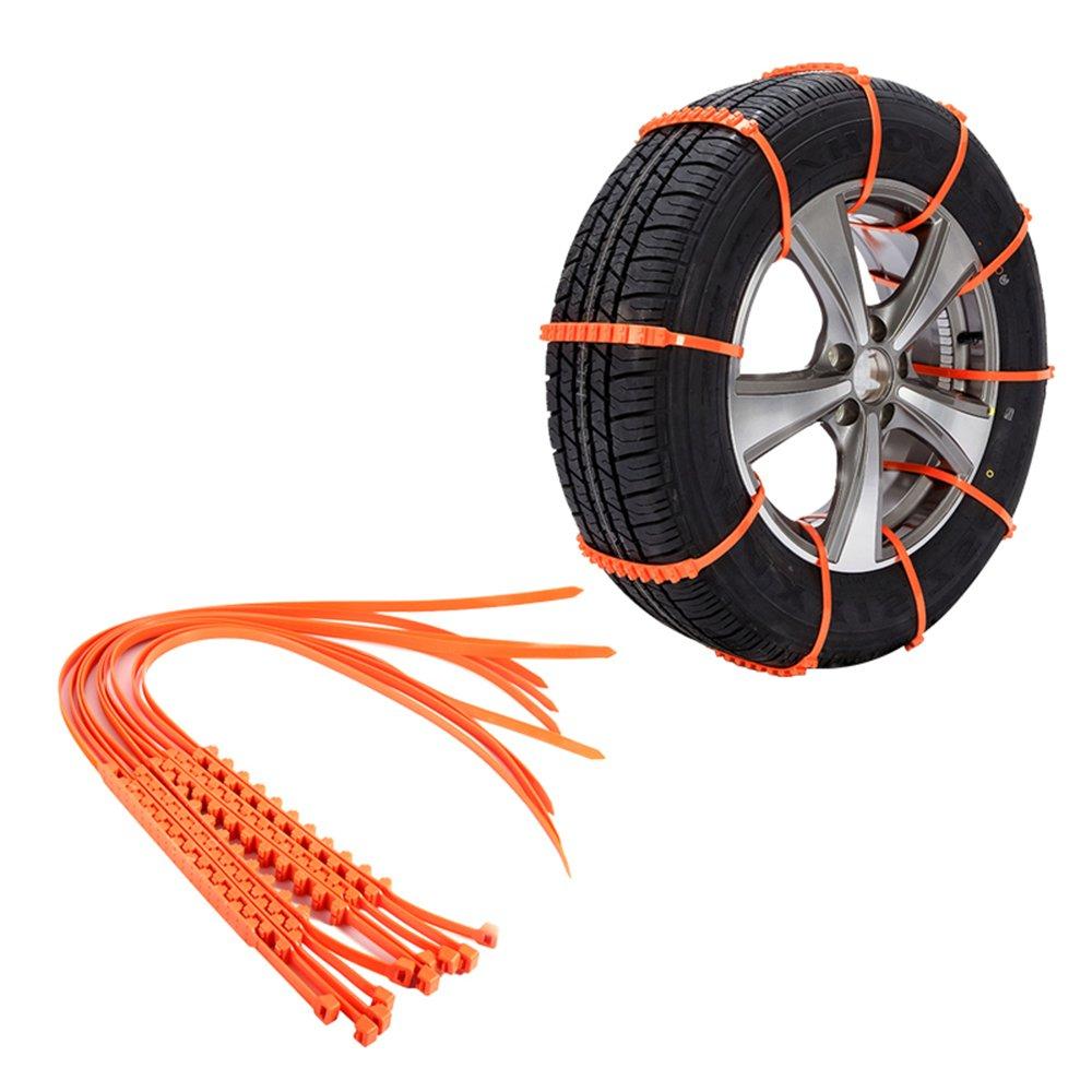Pulusi 10PCS AntiSkid Slip Emergency Snow Tyre Tire Security Chains Car Belting Straps