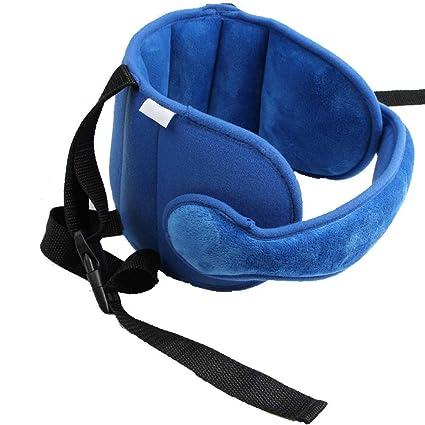 Soporte Cabeza Sujeta de Coche para Niños Arnés Cinturón Ajustable de Seguridad Fijación de la Correa