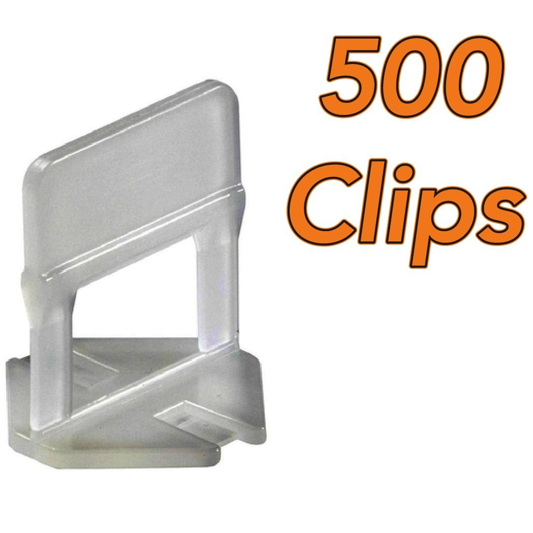 Tile Leveling Clips by RMS [Pack of 500] 1/8 Inch. CL-503 Anti Lippage Effortless Way to Lock In Your Large and Heavy Tiles. Get Professional Results Every Time.