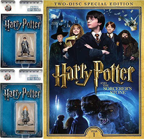 Wizarding World Dvd Game (Harry Potter and the Sorcere's Stone Two-Disc Special Edition DVD with Harry Potter and Hermione Granger Nano Metalfigs Bundle)