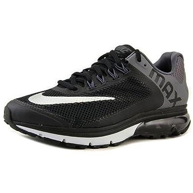 Amazon.com | Nike Air Max Excellerate+ 2, Men\u0027s Running Shoe. BLACK/METALLIC  SILVER/DARK GREY/PURE PLATINUM | Road Running