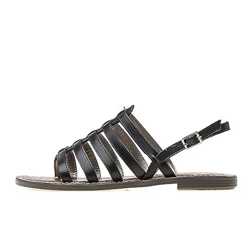 a38d385fc68 Sam Edelman Sandalias de Vestir de Piel para Mujer Negro Negro  Amazon.es   Zapatos y complementos