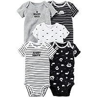 Odziezet Mono Bebe Recién Nacido Niña Niño Body Mameluco Sin Pies Algodón Romper Verano Pack 5 para 3-24 Meses