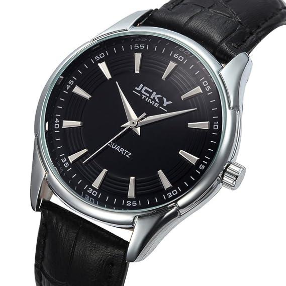 Lujo Vip Relojes Estudiantiles hombres de pulsera de cuero impermeable de negocios al por mayor de la correa de Brown Bl: Amazon.es: Relojes