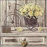 Cuadro en lienzo Vintage 40x 40cm) Yellow Roses