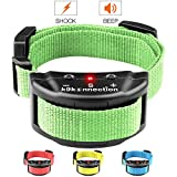 K9KONNECTION [New Color Collars] Dog No Bark Shock Collar Training System with Harmless Warning Beep & 7 Levels of Adjustable Sensitivity Control for Small, Medium & Large Dogs - Manual Included