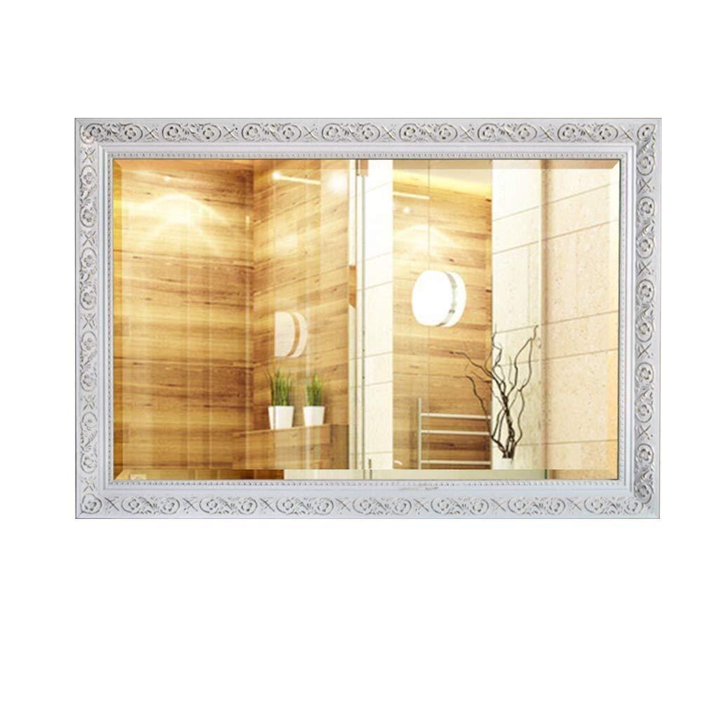 Bathroom Mirror,Solid Wood Decorative Frame Makeup Mirror Bathroom Mirror Vanity Mirror Bathroom Mirror (Size : 7090cm)