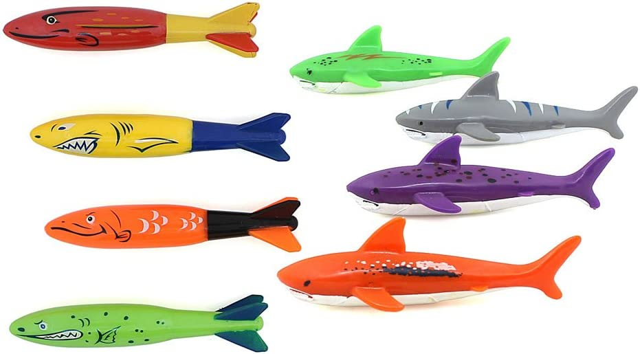 ZHMY Diving Toy Pool Glide Shark Throw Torpedo Underwater, Pool Shark (Shark Ray)