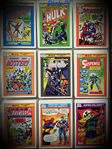 1990 Impel Marvel Universe Collector Trading Card Lot BestSellersAmazinTrendz Pick 3 From X-Men, Spiderman. Iron man, Captain America, Limited Edition Collector's Cards, All Mint - Www Ironman