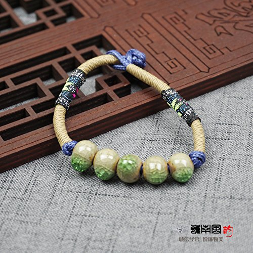 Ceramics bracelet national wind beaded fashion jewelry chain necklace jewelry female models Binglie porcelain Chain Porcelain Necklace
