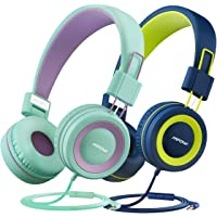 Mpow [2 Pack] Kids Headphones with 85dB Volume Limited Hearing Protection & Music Sharing Function, Wired On-Ear Headphones for Children Toddler BAB