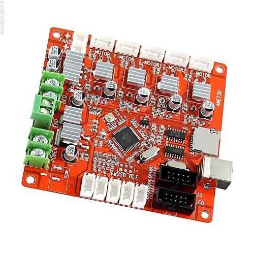 Control Mother Board Mainboard for ANET A8 DIY 3D Printer (red) by cyclamen9 (Image #5)