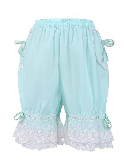 antaina Mint Cotton Victorian Lace Lolita Ruffles Maid Pumpkin Shorts  Bloomers 6b7fa05c9