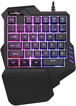 Uno DIO el Teclado de una Mano no mecánicos Gaming Keyboard RGB LED retroiluminada portátil Mini Teclado G92 Gaming 1pc Colorido