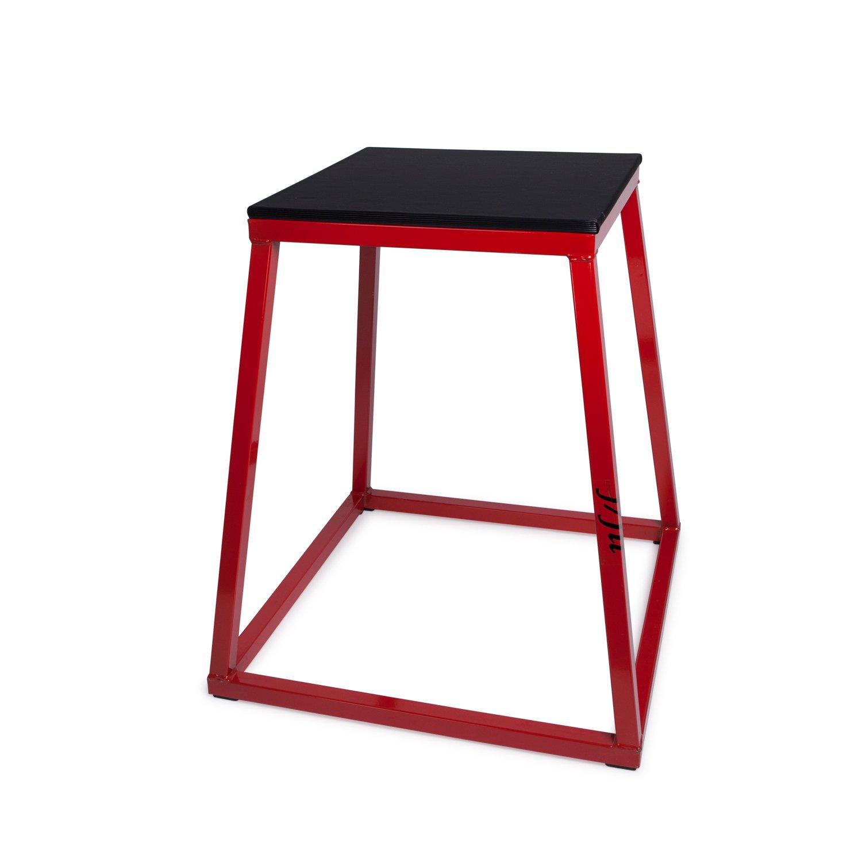 """j/fit プライオメトリックトレーニング用ボックス - 単品 (高さ12インチ、18インチ、24インチ) 、セット品 (高さ30インチまで) B00CV5GOK2 12"""" Height - Red/Black  12"""" Height - Red/Black"""