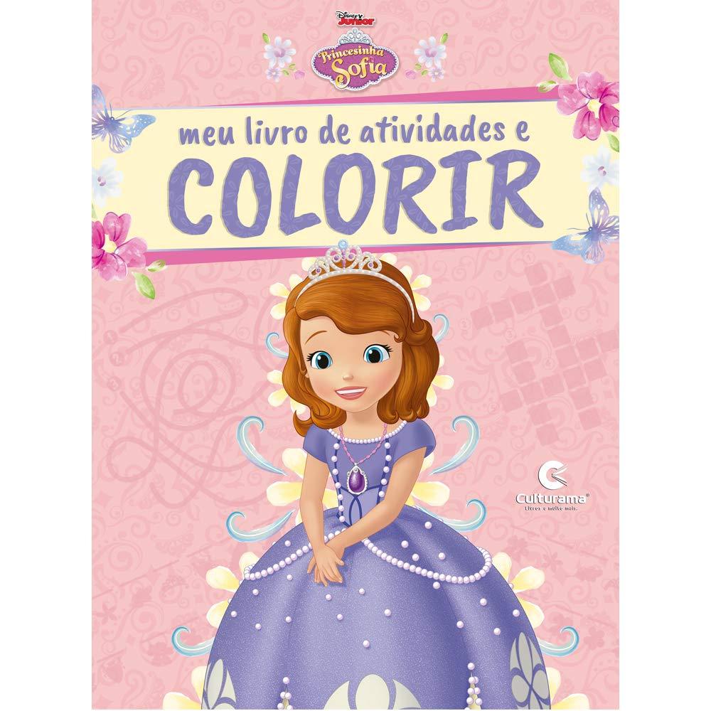 Meu Livro De Atividades E Colorir Princesinha Sofia Com Giz Pop