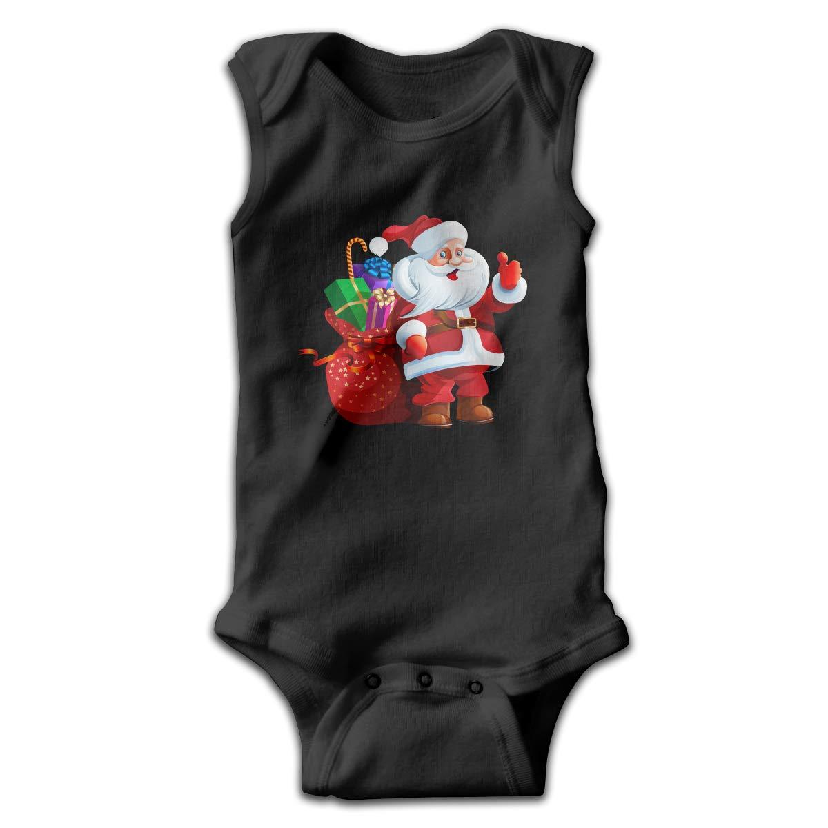 Efbj Newborn Baby Boys Rompers Sleeveless Cotton Onesie,Merry Christmas Bring Gifts Outfit Autumn Pajamas