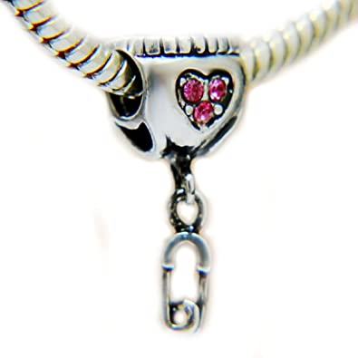 d7f0b53da Amazon.com: EGB Crystal Baby Diaper & Pin Bead Fits Pandora ...