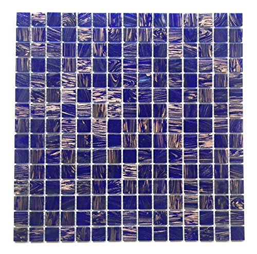 3/4 x 3/4 Blue Violet Glass Mosaic Wall Tile Backsplash Kitchen Pool Bath