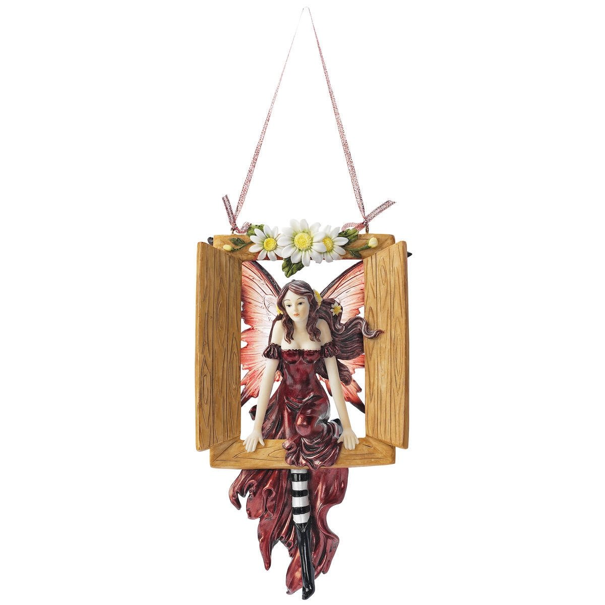 Design Toscano Window to Her World Dangling Fairy Sculpture, Full Color