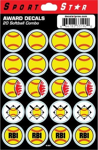 (SportStar Softball Combo Helmet Award Decals)