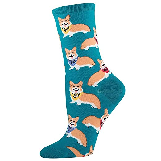 Women's Corgi Socks in Emerald