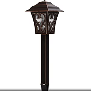 Malibu Outdoor Landscape Lighting Low Voltage LED Pathway Light 1W Oil Rubbed Bronze Garden Lights for Lawn, Yard Patio 8405-9112-01