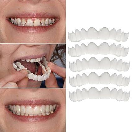 Amazon com: Inverlee 5PC Comfort Fit Flex Cosmetic Teeth