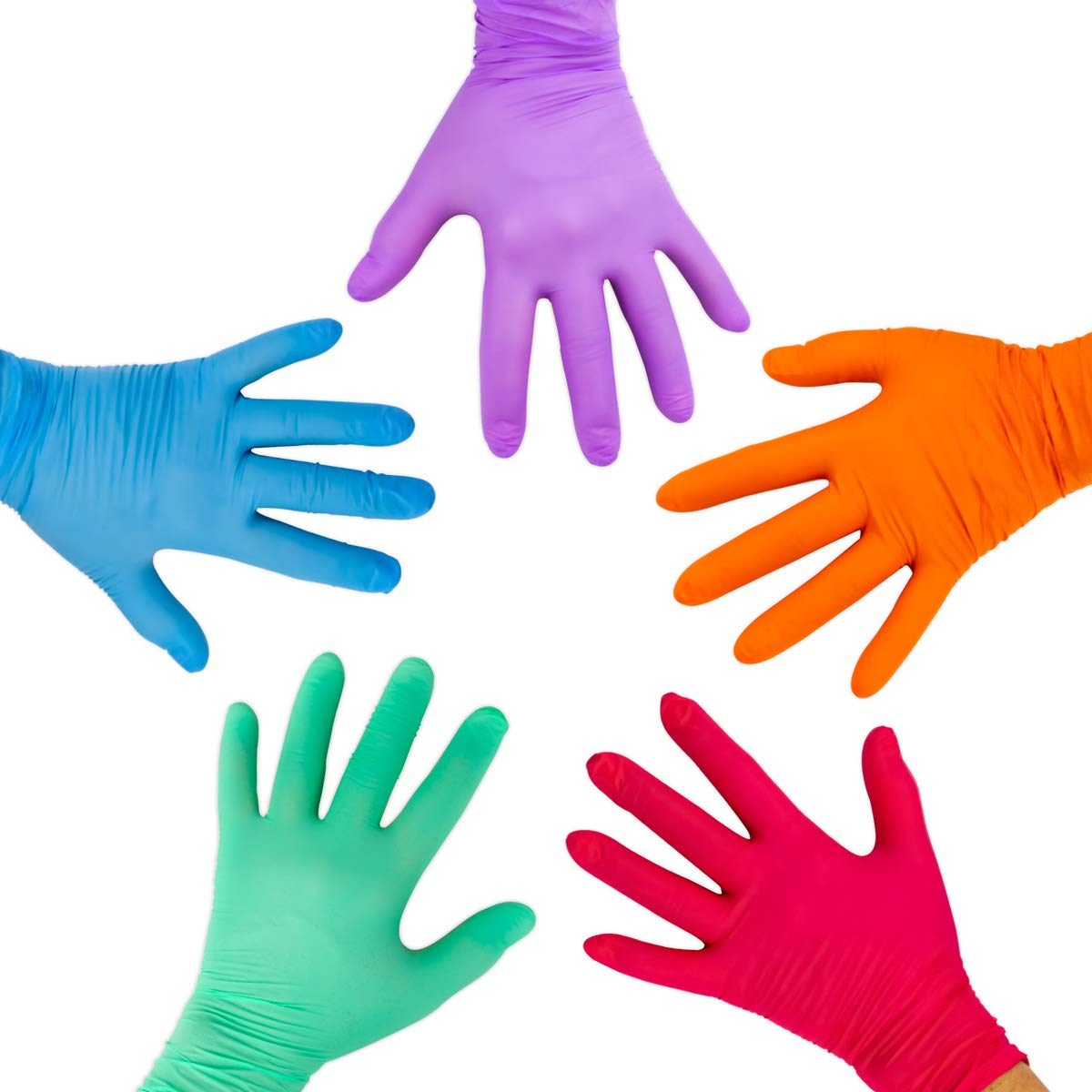 Disposable Gloves For Kids Hygloss Child Craft Gloves- Latex 12-Pk Colorful
