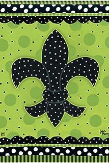 BreezeArt Polkadot Fleur De Lis Garden Flag #32056