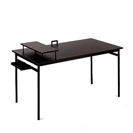 Pleasing Amazon Com Minimal Computer Desk Large Workspace Table Download Free Architecture Designs Salvmadebymaigaardcom