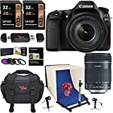 Canon EOS 80D Digital SLR Camera EF-S 18-135mm Image Stabilization USM Lens, Polaroid Photo Studio Light Tent Kit, 2 X 32GB Lexar Memory Cards, Ritz Gear Camera Bag and Accessory Bundle