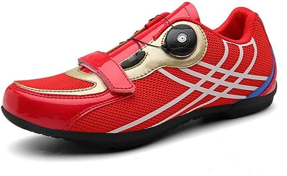 LY CROWM Zapatillas de Ciclismo de Carretera para Adultos Unisex Zapatillas de Ciclismo Zapatillas de Spinning Bicicleta de montaña Zapatillas Antideslizantes Transpirables: Amazon.es: Deportes y aire libre