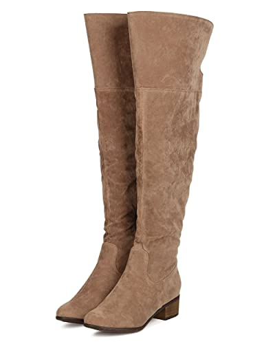 Amazon.com | Houston 11 Womens Over The Knee Suede Riding Boots ...
