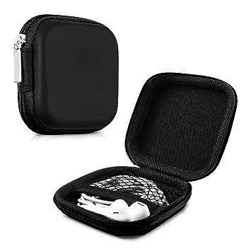 kwmobile Funda Protectora rígida para Auriculares In-Ear - Estuche Protector Duro para audífonos con Almohadillas en Negro
