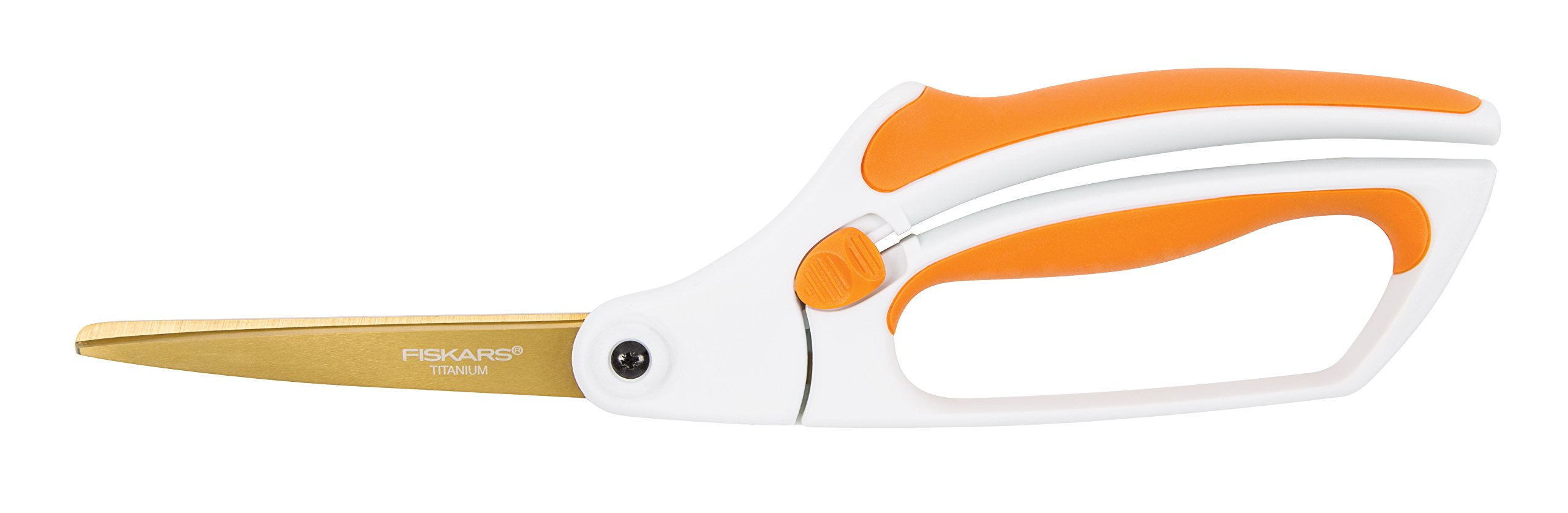 Fiskars 12-71787097J Titanium Easy Action Scissors, 10 Inch, Orange and White by Fiskars