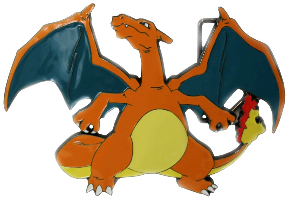 Pokemon Animated TV Series Charizard Rockstar Belt Buckle Buckle Down