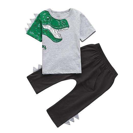 5376d33ac Amazon.com  Moonker Fashion Toddler Baby Boy 3D Dinosaur Short ...