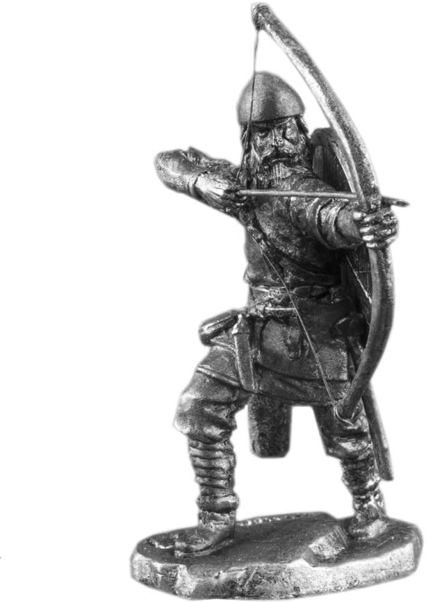 Ronin Miniatures Viking Archer Bow and Arrow Man Historical UnPainted Tin Metal Collection Toy Soldier Size 1/32 Scale Décor Accents 54mm for Home Collectible Figurines Best Gift Item #Vk-06