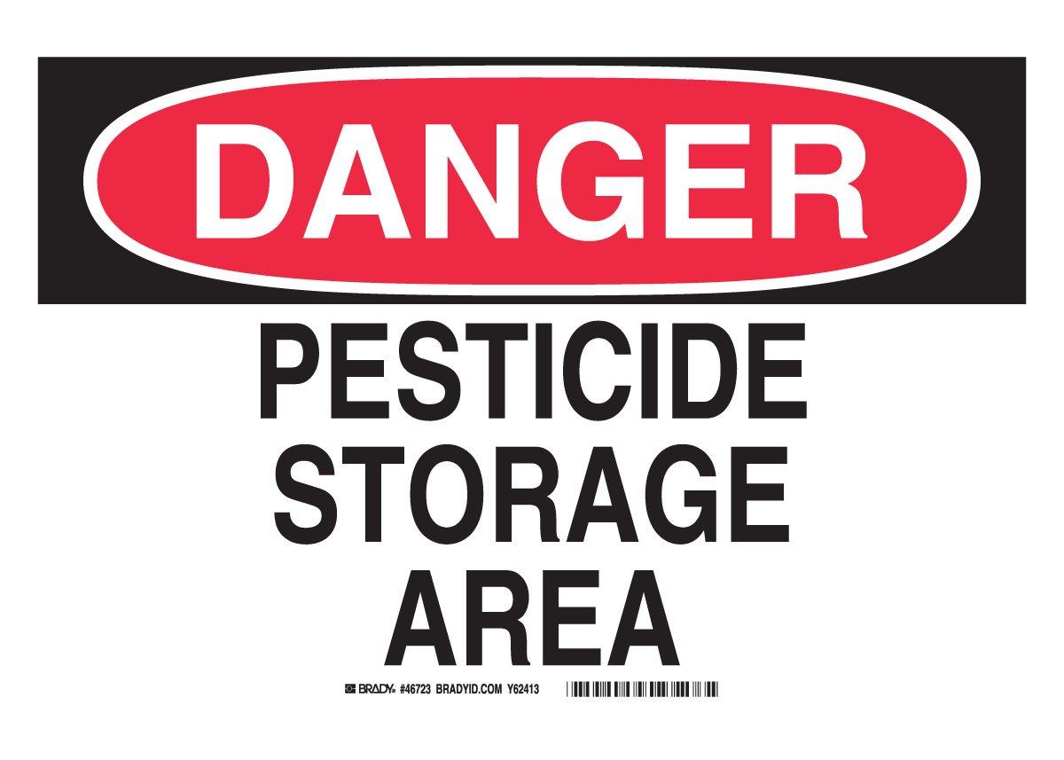 10 X 14 Danger Sign Legend Pesticide Storage Area Brady 46723 Aluminum