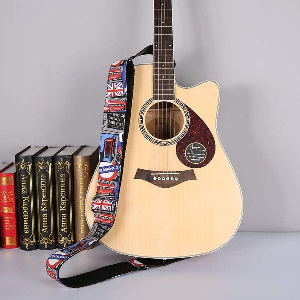 Correa para Guitarra Longitud Ajustable Tire de dril de algodón de la flor de la correa de la guitarra guitarra de 2