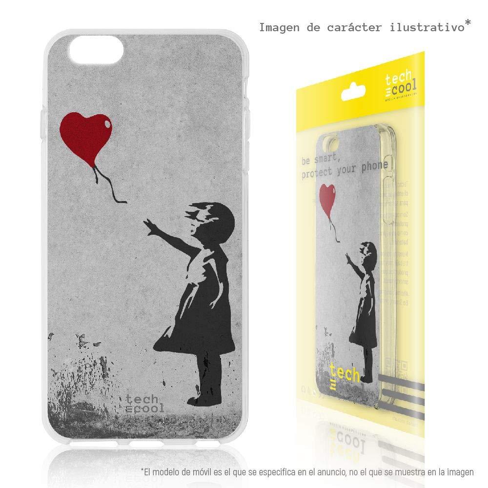 Gel Silicona Flexible, Dise/ño Exclusivo Note 7 Pro Banksy Graffiti ni/ña Globo Funnytech/® Funda Silicona para Xiaomi Redmi Note 7