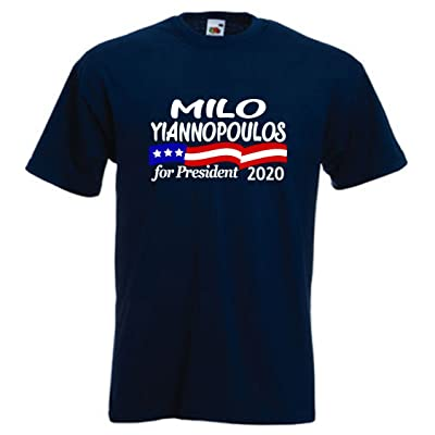 Silo Shirts NAVY Milo Yiannopoulos President 2016 T-Shirt