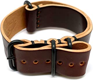 product image for DaLuca Shell Cordovan Military Watch Strap - Color 8 (PVD Buckle) : 22mm