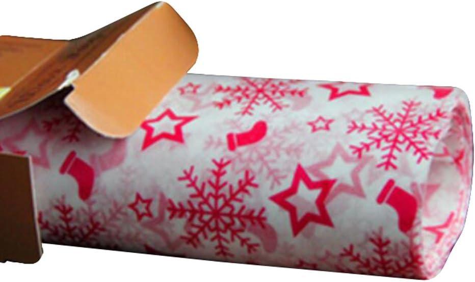 50 PCS Baking Parchment Wax Paper Nougat Candy Wrapper 25X21.8 CM Snowflake