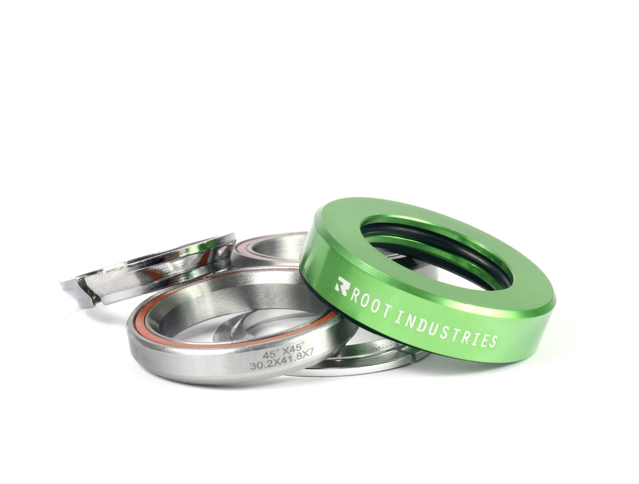 Root Industries AIR Headset - Trick/Stunt Scooter Headset - 1-⅛ Freestyle BMX/Scooter Professional Integrated Headset - Premium Color Options Sealed Fast (Green)